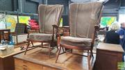 Sale 8383 - Lot 1041 - Pair of Ercol armchairs