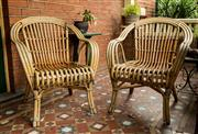 Sale 8418A - Lot 4 - A pair of bent cane armchairs