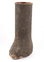 Sale 8940J - Lot 29 - A unique and incredibly rare antique taxidermy elephant foot converted into a stick stand, H 85cm