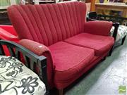 Sale 8550 - Lot 1451 - Vintage Scallop Back 2 Seater Settee