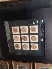 Sale 8563T - Lot 2100 - Framed Set Carved Chinese Coins