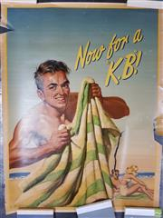 Sale 8585 - Lot 1005 - Alan D. Baker (1914 - 1987) - Now for a K.B. 100.5 x 76cm (A/F)