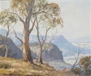 Sale 8707 - Lot 2001 - Leon Hanson (1918 - 2011) - Kanimbla Valley, Near Blackheath, Blue Mountains NSW 49.5 x 60cm