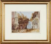 Sale 8771 - Lot 2019B - L Lyons - Castle Ruins, 1876 18.5 x 25cm
