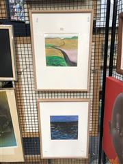 Sale 8856 - Lot 2020 - Ruth Faeber (2 works) - Study for Paperscape n.5 and n.7 55 x 40cm (framesize)