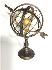 Sale 9015G - Lot 97 - Metal Armillary Globe Display Ornament .General Wear , Surface Rust ,Size 40 cm H