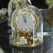 Sale 8236 - Lot 51 - German Kundo 400 Day Glass Dome Clock