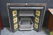 Sale 8272 - Lot 1004 - Victorian Tiled Back Fire Place