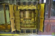 Sale 8342B - Lot 13 - Meiji Black & Gold Lacquered Shrine Cabinet