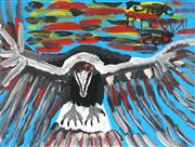 Sale 8773 - Lot 573 - Trevor (Turbo) Brown (1967 - 2018) - Untitled (Magpie) 45 x 60cm