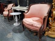 Sale 8934 - Lot 1004 - Pair of French Style Tub Chairs