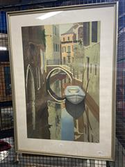 Sale 8936 - Lot 2057 - Graham Bannister - Venice screenprint ed. 94/150, 94 x 67cm (frame), signed