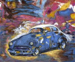 Sale 9174JM - Lot 5083 - STANLEY PERL (1942 - ) Dream Car acrylic on canvas 40.5 x 51 cm inscribed and titled verso