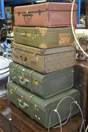 Sale 7981A - Lot 1070 - Set of 5 Suitcases