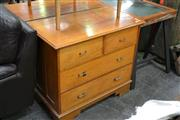 Sale 8013 - Lot 1154 - Timber Chest Of Five Drawers