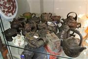 Sale 8100 - Lot 72 - Chinese Zisha Teapots with Ceramic Teapot