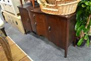 Sale 8147 - Lot 1093 - Raised Timber Serpentine Front Sideboard