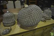 Sale 8305 - Lot 1024 - Ball Form Light Fitting & Pair of Wall Sconces