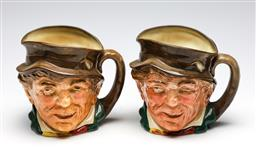 Sale 9255S - Lot 94 - A pair of Royal Doulton Toby Jugs. Height 15cm