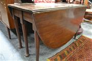 Sale 8046 - Lot 1082 - Mid-Georgian Style Mahogany Gate-Leg Table, with six club legs