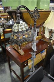 Sale 8093 - Lot 1060 - Leadlight Shade Standard Lamp