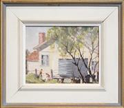 Sale 8259 - Lot 590 - James Ranalph Jackson (1882 - 1975) - The Cottage Tank, Brookvale, N.S.W. 18 x 23cm
