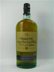Sale 8290 - Lot 418 - 1x Dufftown Distillery The Singleton 12YO Single Malt Scotch Whisky