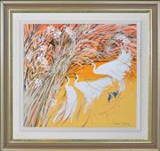 Sale 8394 - Lot 504 - Richard Bogusz (1947 - ) - Birds of a Feather 54.5 x 59.5cm