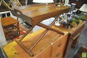 Sale 8392 - Lot 1028 - Timber Serving Tray over X Frame Base