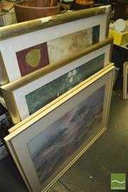 Sale 8422T - Lot 2089 - Group of (4) Large Landscape & Floral Decorative Prints