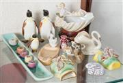 Sale 8515A - Lot 28 - A small group of ceramics including a set of Beswick penguins and other novelty wares