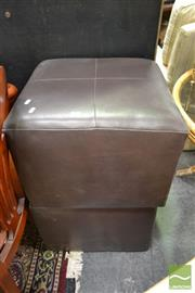 Sale 8515 - Lot 1065 - Pair of Leather Footstools