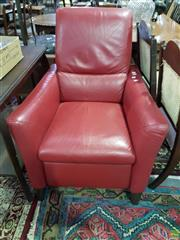 Sale 8580 - Lot 1043A - Red Leather Natuzzi Recliner