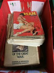 Sale 8659 - Lot 2404 - Box of Books & Booklets incl. The Graphic Extras The First Phase of the Great War, & the Second Phase; Man Junior; The National...