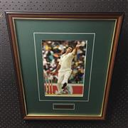 Sale 8805A - Lot 873 - Glenn McGrath, At Full Pace, framed
