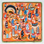 Sale 8918A - Lot 5017 - Yosi Messiah (1964 - ) - Orange Light 85 x 85 cm