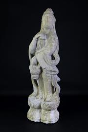 Sale 8935 - Lot 22 - Large Marble figure of Guanyin (H68cm)