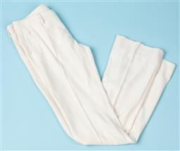 Sale 9092F - Lot 95 - A PAIR OF NO-L-ITA CREAM TROUSERS; made from wool with a subtle flare. Size 28