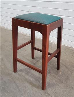 Sale 9134 - Lot 1007 - Rosewood stool with upholstered seat (h:59cm)