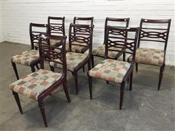 Sale 9151 - Lot 1328 - Set of eight dining chairs - 103 (h91 x w42 x d48cm)