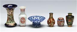 Sale 9153 - Lot 46 - A collection of Asian ornaments (6) incl Satsuma and Cloisonne