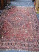 Sale 7919A - Lot 1697 - Antique Wool Carpet with Concentric Medallion & Scattered Motif, Probably West Persia