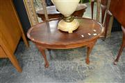 Sale 8019 - Lot 1011 - Timber Occasional Table on Cabriole Legs
