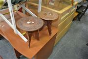 Sale 8138 - Lot 994 - Pair of Inlayed Side Tables