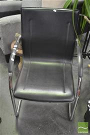 Sale 8406 - Lot 1191 - Leather Cantilever Chair
