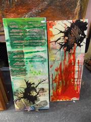 Sale 8422T - Lot 2033 - Artist Unknown, pair of framed abstract paintings