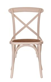 Sale 8444A - Lot 51 - A set of 8 birch cross back dining chairs finished in alabaster white with light tint natural rattan seats  W 50 x  D 46 x H 89cm