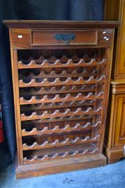 Sale 8550 - Lot 1310 - Timber Wine Cabinet with Single Drawer to Top - Holds 49 x Bottles