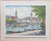 Sale 8593A - Lot 112 - Baumgarten? - Frau Munster & St Peter 44 x 58cm