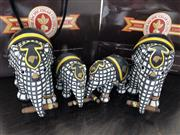 Sale 8782A - Lot 140 - A Cohiba Elephant Parade (215cm, 210cm) with serial numbers and orginal boxes, damage and repair to one of the smaller ones,original...
